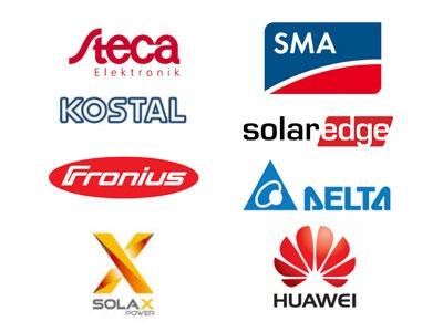Solcelle inverter fra SMA, Kostal, Steca, SolarEdge, Fronius,Solax Power, Delta