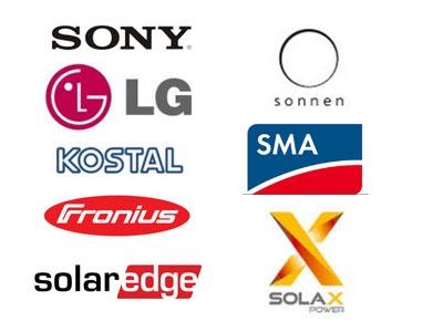 Solcellebatteri løsninger fra Sonnen , Sony, LG, SMA, Kostal, SolarEdge, SolaxPower, Fronius
